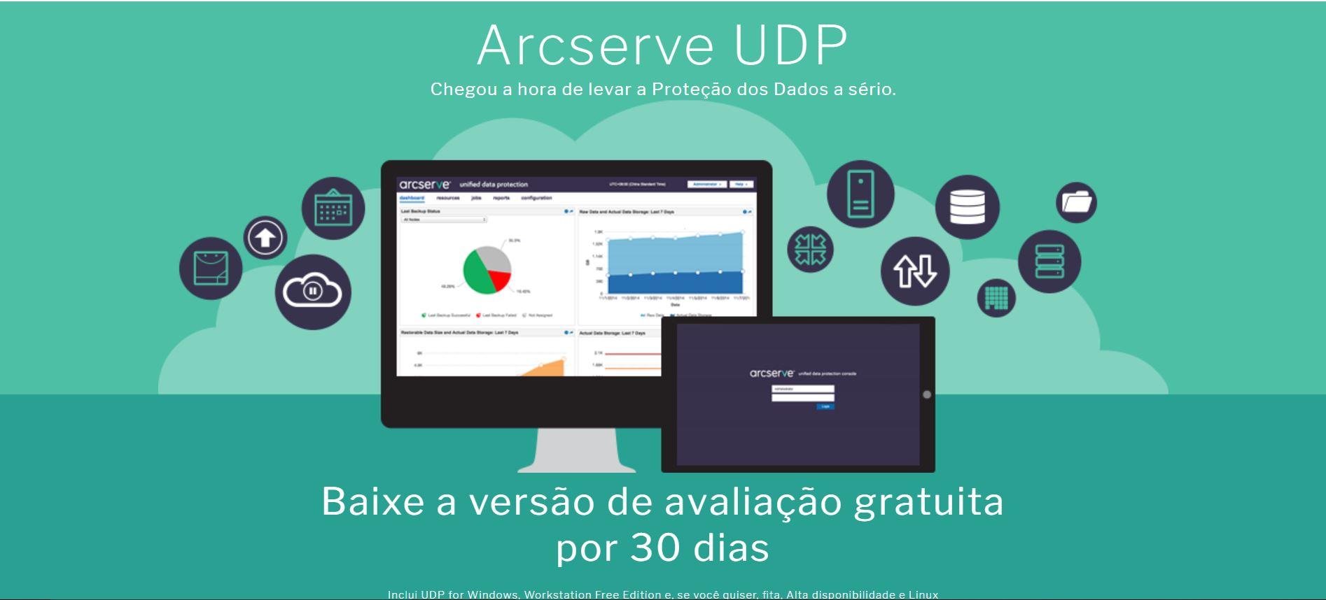 Software para testes - 30 dias Arcserve