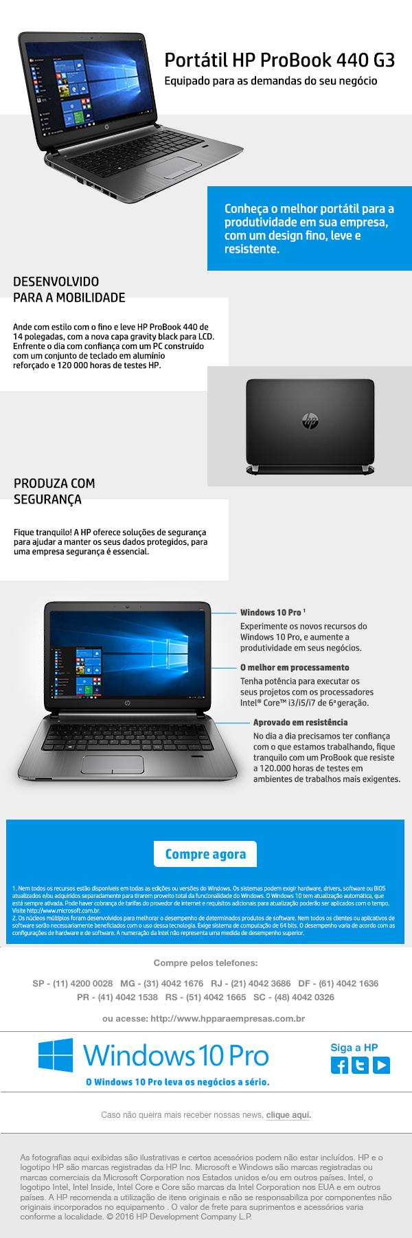 Portátil HP ProBook 440 G3
